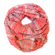 Aztec Tribal Scarf Geometric Scarf Double Loop Scarf Boho Scarves Endless Loop Scarf Coral Grey Circle Scarf Fun Women Teens Fashion Scarves