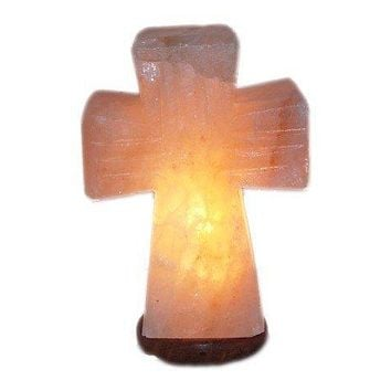 Himalayan Salt Standing Cross Lamp - Small