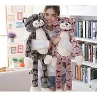 Jumbo Plush Kitten - Stuffed Cat Soft Plush Toy- 50cm/70cm/90cm Or 19.7in/27.5in/35.4in