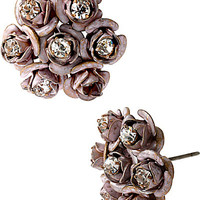 PINKTINA ROSE CLUSTER STUD EARRINGS