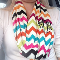 Infinity scarves made just for you by Valerie D. Many prints to chose from and monogramming is available..
