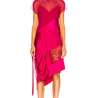 Givenchy Jacquard Optical Midi Dress in Fuchsia | FWRD