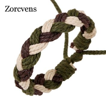 ZORCVENS Women Lucky Braided Bracelet Rope Thread String Bracelets Pulsears