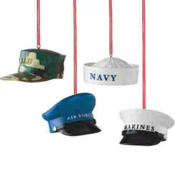 Military Hat Ornament Tree Figures