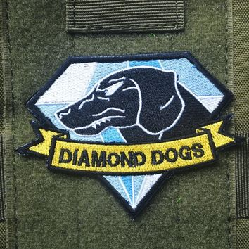 Metal Gear Solid 5 Diamond Dogs patch militaires hook  back tactical patches cospaly game morale  for coat vest
