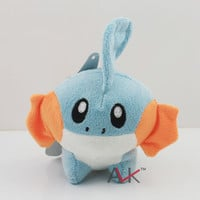 "Anime Pokemon Mudkip Stuffed Plush Dolls 6""15cm Kids Children's Toys Gifts High Quality"