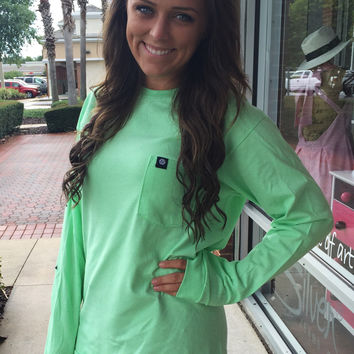"""Simply Southern """"The Classic"""" Long Sleeve - Green"""