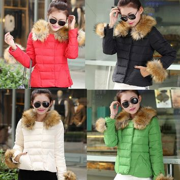 US STOCK ! Women's Ultralight Hooded White Down Jacket Winter Hoodie Puffer Coat