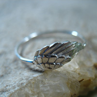 Stacking Ring Sterling Silver Wings