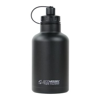 BUNDLE BOSS Triple Insulated Stainless Steel Growler Bottle with Infuser - 64 oz