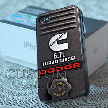 CUMMINS Turbo Diesel Dodge - Rubber or Plastic Print Custom - iPhone 4/4s, 5 - Samsung S3 i9300, S4 i9500 - iPod 4, 5