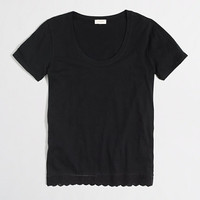 J.Crew Womens Factory Lace-Trim Tee