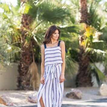 Kiana Navy Stripe Pants