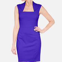 Marc New York by Andrew Marc Fold Collar Sheath Dress | Nordstrom