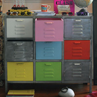 Industrial Nine Drawer Unit