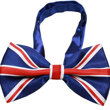 Big Dog Bow Tie British Flag