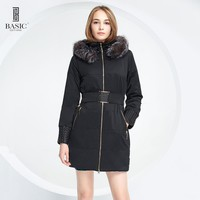 BASIC EDITIONS Jacket And Coat For Women Winter Removable Fox Fur Female Warm Parka Hood Overcoat 14W-35