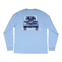 Jeep Back C.C. Prep Long Sleeve Tee Shirt in Jake Blue by Vineyard Vines