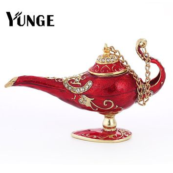 YUNGE  Arabian Magic Lamp Antique Arts Craft Genie Lamp Souvenir Wedding Home Decoration Collectible Aladin Lamp