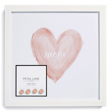 Petal Lane 'Mom' Heart Watercolor Magnet Board