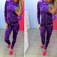 Women'S Long Sleeve Two-Piece Pants