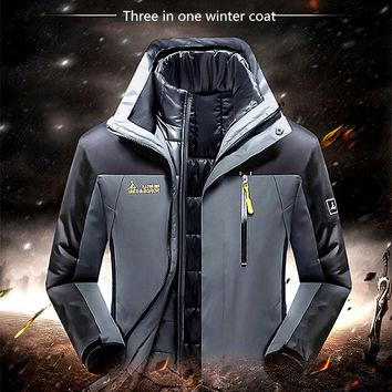 Winter man warm Outdoor down jacket n-3b Windproof waterproof hooded cloth White Duck Down Camping hiking Mountaineering clothes