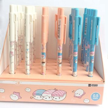 3X Kawaii Sushi Rice Automatic School Supply Student Stationery Automatic Press Pencil Writing Drawing 0.5mm