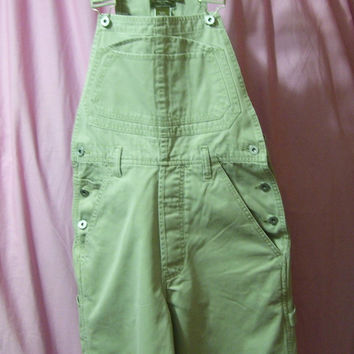 Khaki Overalls, Bib, Full Leg,  Calvin Klein, Size Small, Casual Wear, Back to School