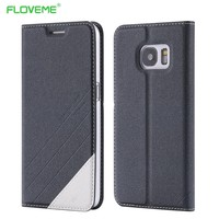 FLOVEME S7/S7 Edge Elegant Original Leather Case For Samsung Galaxy S 7 Edge Flip Wallet With Card Slot Stand Cellphone Cover