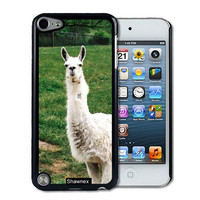 IPod 5 Touch Case Thinshell Case Protective IPod 5G Touch Case Shawnex White Llama On Grass