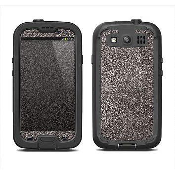 The Black Glitter Ultra Metallic Samsung Galaxy S3 LifeProof Fre Case Skin Set