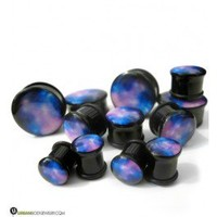 Single Flare Galaxy Plugs (4G - 1 Inch) | UrbanBodyJewelry.com
