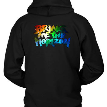 Bring Me The Horizon Title Colourize Hoodie Two Sided