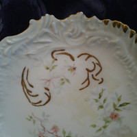 Vintage China Limoges Pink Roses, Small Plate, Dessert Plate, Bread Plate, Shabby Chic Cottage Style