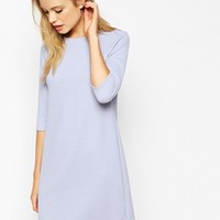 ASOS Shift Dress in Jumbo Rib with 3/4 Sleeves