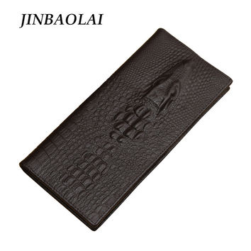 Men Wallet 100% Genuine Leather 3D Embossing Alligator Wallets Fashion Crocodile Long Clutch Purse