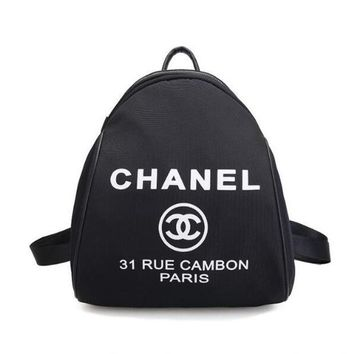 CHANEL Fashion Women College Canvas Satchel Backpack Bookbag I12273-1