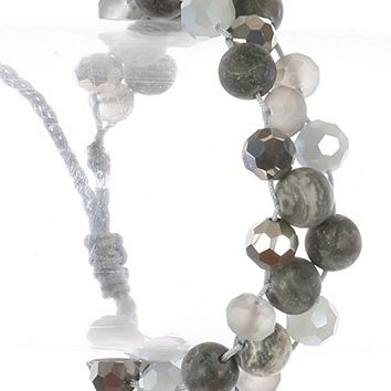 Natural Stone Bead Adjustable Bracelet