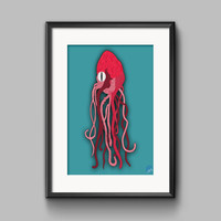 Heart X Squid Hyrbid Original Print