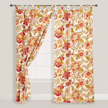 Floral Kavita Cotton Tab Top Curtain - World Market