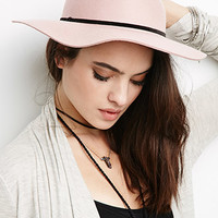Wide-Brimmed Wool Fedora