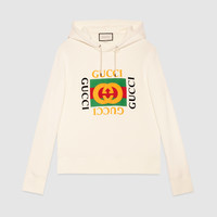 Gucci - Cotton sweatshirt with Gucci logo