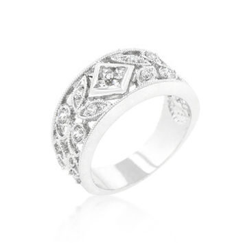 Spring Floral CZ Band