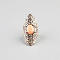 Full Tilt Large Oval Ring Gold