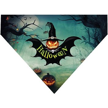 Halloween Over the Collar Dog Bandana - Pumpkin Bat