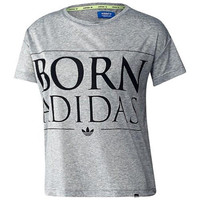 Adidas Womens Heathered Printed T-Shirt