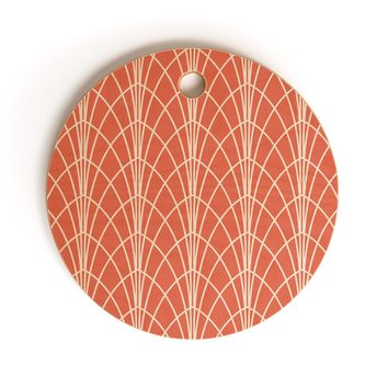 Heather Dutton Arcada Persimmon Cutting Board Round