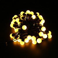 Multicolor 110V/220V 5M 50 LED Linkable Ball holiday String Light for Home Decoration/Wedding/Birthday/Holiday/Chrismas Party