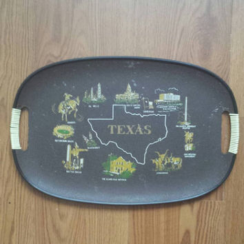Vintage state of Texas decorative tray