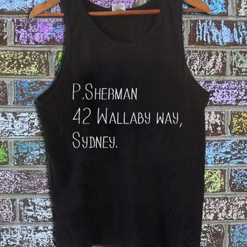 p. sherman 42 wallaby way sydney black tanktop for men and women